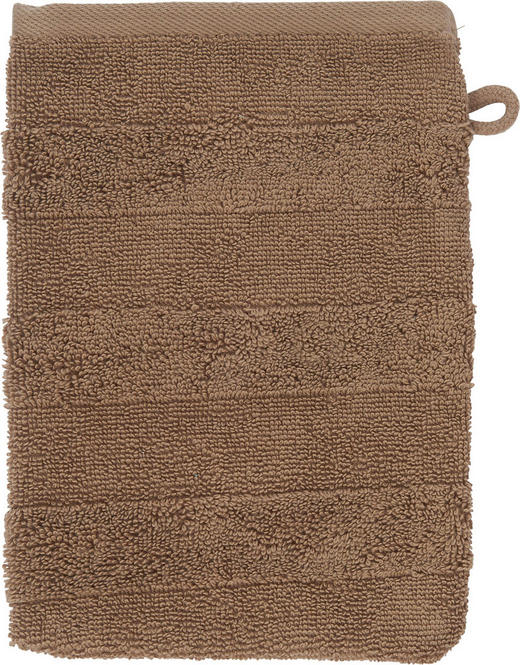 WASCHHANDSCHUH  Taupe - Taupe, Basics, Textil (16/22cm) - Linea Natura