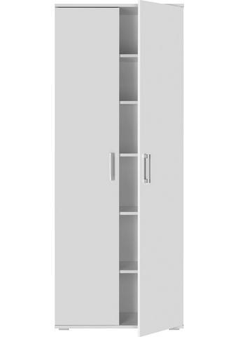 VEČNAMENSKA OMARA, bela - aluminij/bela, Design, umetna masa/leseni material (70/179/34cm) - Carryhome