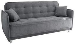 SCHLAFSOFA in Textil, Holzwerkstoff Anthrazit  - Anthrazit/Silberfarben, MODERN, Holzwerkstoff/Kunststoff (216/95/95cm) - Carryhome