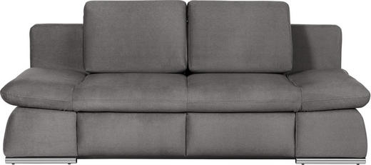 SCHLAFSOFA in Grau Textil - Chromfarben/Grau, Design, Textil/Metall (214/88/106cm) - Novel