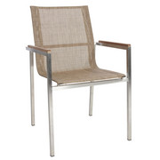 STAPELSESSEL - Edelstahlfarben/Silberfarben, Design, Holz/Textil (56/87/56cm) - Ambia Garden