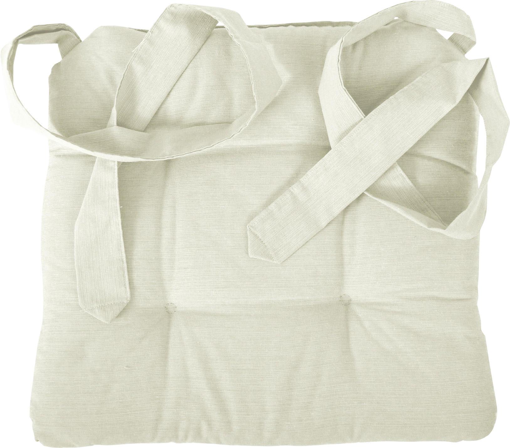 STUHLKISSEN Creme 42/46/7 cm - Creme, Textil (42/46/7cm) - NOVEL