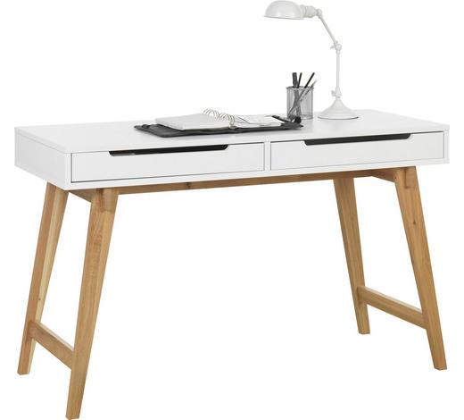 PSACÍ STŮL - bílá/barvy dubu, Design, dřevo/kompozitní dřevo (120/75/50cm) - Hom`in