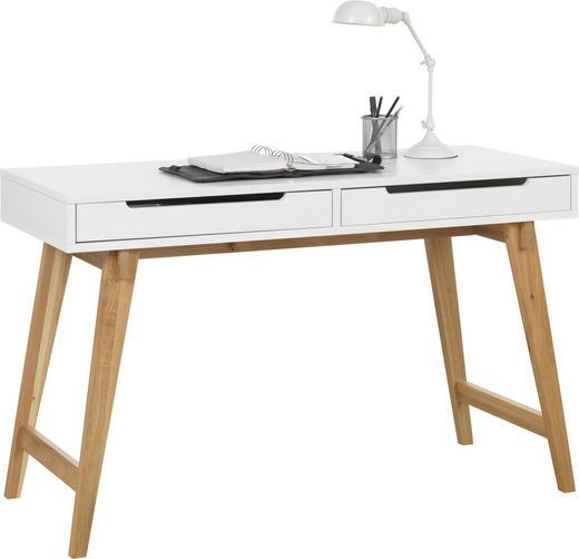 SCHREIBTISCH - Eichefarben/Weiß, Design, Holz/Holzwerkstoff (120/75/50cm) - HOM IN