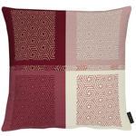 KISSENHÜLLE Creme, Rot  - Rot/Creme, KONVENTIONELL, Textil (49x49cm) - Ambiente