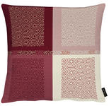 KISSENHÜLLE Creme, Rot  - Rot/Creme, KONVENTIONELL, Textil (49x49cm) - Ambiente