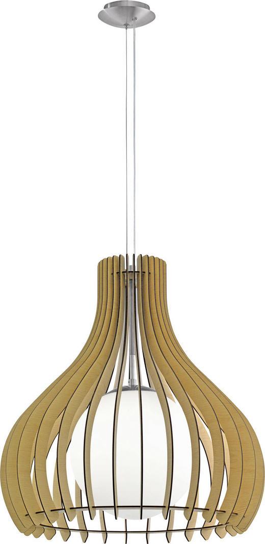 HÄNGELEUCHTE - Ahornfarben/Weiß, Design, Glas/Holz (50/200cm)
