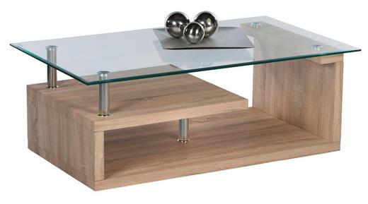 COUCHTISCH rechteckig Sonoma Eiche - Sonoma Eiche, Design, Glas/Metall (110/65/40cm) - Carryhome