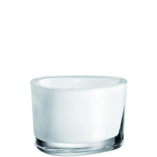 TEELICHTGLAS - Weiß, Basics, Glas (9/6/7cm) - LEONARDO