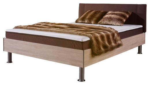 FUTONBETT 140/200 cm - Chromfarben/Eichefarben, Design, Textil/Metall (140/200cm) - Carryhome