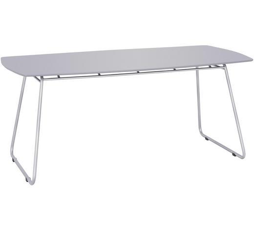 GARTENTISCH 90/180/74 cm - Taupe/Edelstahlfarben, Design, Kunststoff/Metall (90/180/74cm) - Amatio