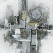 Abstraktes ÖLGEMÄLDE - Multicolor, Design, Holz/Textil (60/60cm) - Monee