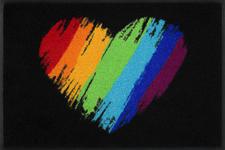 FUßMATTE 50/75 cm Herz Multicolor, Schwarz  - Multicolor/Schwarz, Basics, Kunststoff/Textil (50/75cm) - Esposa