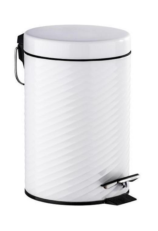 TRETEIMER 3 L - Weiß, Basics, Kunststoff/Metall (17/26/22cm)