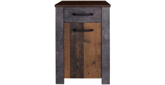 Unterschrank Ontario - Eichefarben/Graphitfarben, MODERN, Holzwerkstoff (48,4/84,5/40cm) - Ombra
