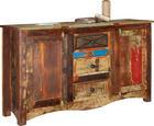 KOMODA - Multicolor/hnědá, Lifestyle, kov/dřevo (150/85/40cm) - Landscape
