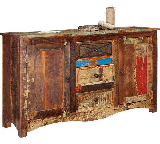 KOMODA, recyklované dřevo, vícebarevná - vícebarevná/hnědá, Lifestyle, kov/dřevo (150/85/40cm) - Landscape