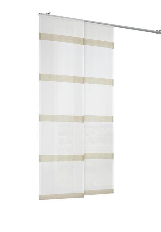 FLÄCHENVORHANG   halbtransparent   60/245 cm - Creme, Basics, Textil (60/245cm) - NOVEL