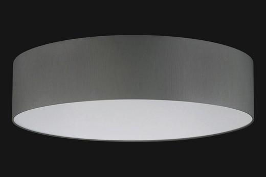 DECKENLEUCHTE - Grau, Basics, Textil (75cm)