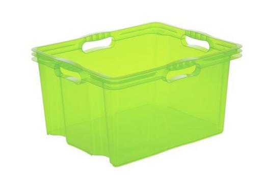 BOX Kunststoff Grün - Grün, Design, Kunststoff (43/23/35cm) - Carryhome