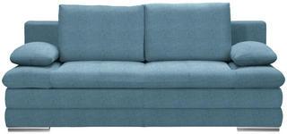SCHLAFSOFA in Textil Blau  - Chromfarben/Blau, MODERN, Textil (203/90/102cm) - Carryhome