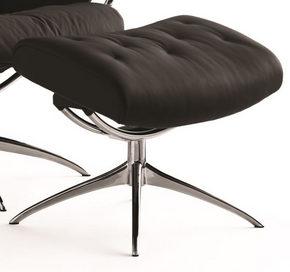 PALL - alufärgad/svart, Design, metall/läder (54/46/41cm) - Stressless