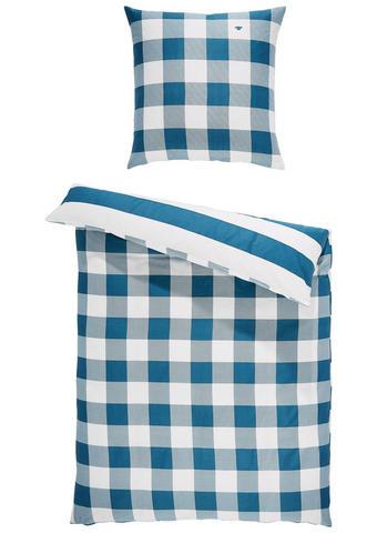 BETTWÄSCHE Satin Blau, Weiß 135/200 cm - Blau/Weiß, KONVENTIONELL, Textil (135/200cm) - Tom Tailor