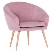 KŘESLO - růžová/přírodní barvy, Moderní, dřevo/textil (73/73/66cm) - Carryhome