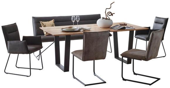 BARTISCH in Holz, Metall 140/70/92 cm   - Eichefarben/Schwarz, Design, Holz/Metall (140/70/92cm) - Valnatura