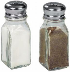 SALT- OCH PEPPARKAR - klar/smaragdgrön, Basics, metall/glas (10cm)