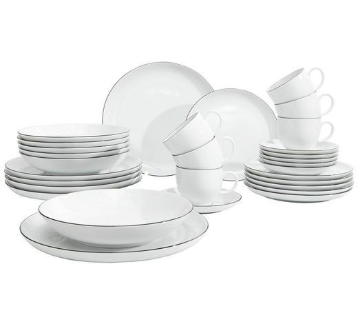 SERVIS KOMBINOVANÝ - bílá/černá, Basics, keramika - Seltmann Weiden