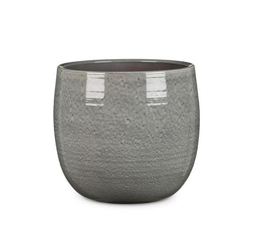 PFLANZENTOPF - Grau, KONVENTIONELL, Keramik (18/18/17cm)