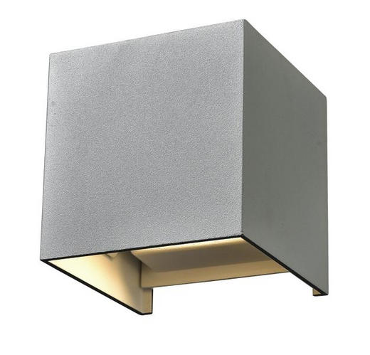 WANDLEUCHTE - Silberfarben, MODERN, Metall (10/10/10cm)