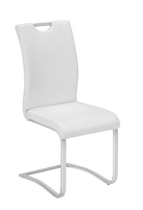 SVIKTSTOL - vit/kromfärg, Design, metall/textil (42/102/55cm) - Carryhome