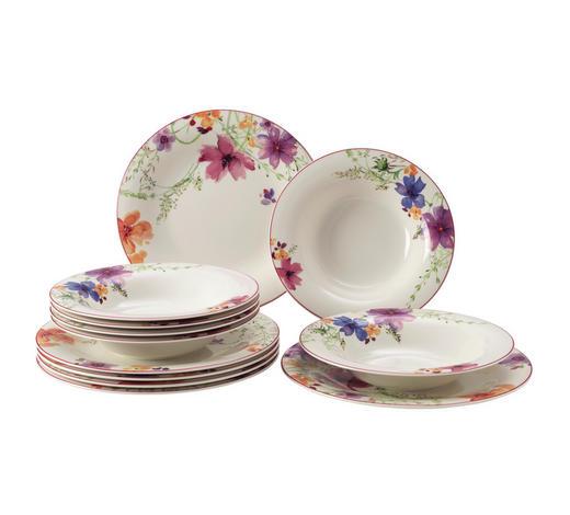 Porzellan  TAFELSERVICE  12-teilig  - Pink/Gelb, Basics, Keramik - Villeroy & Boch