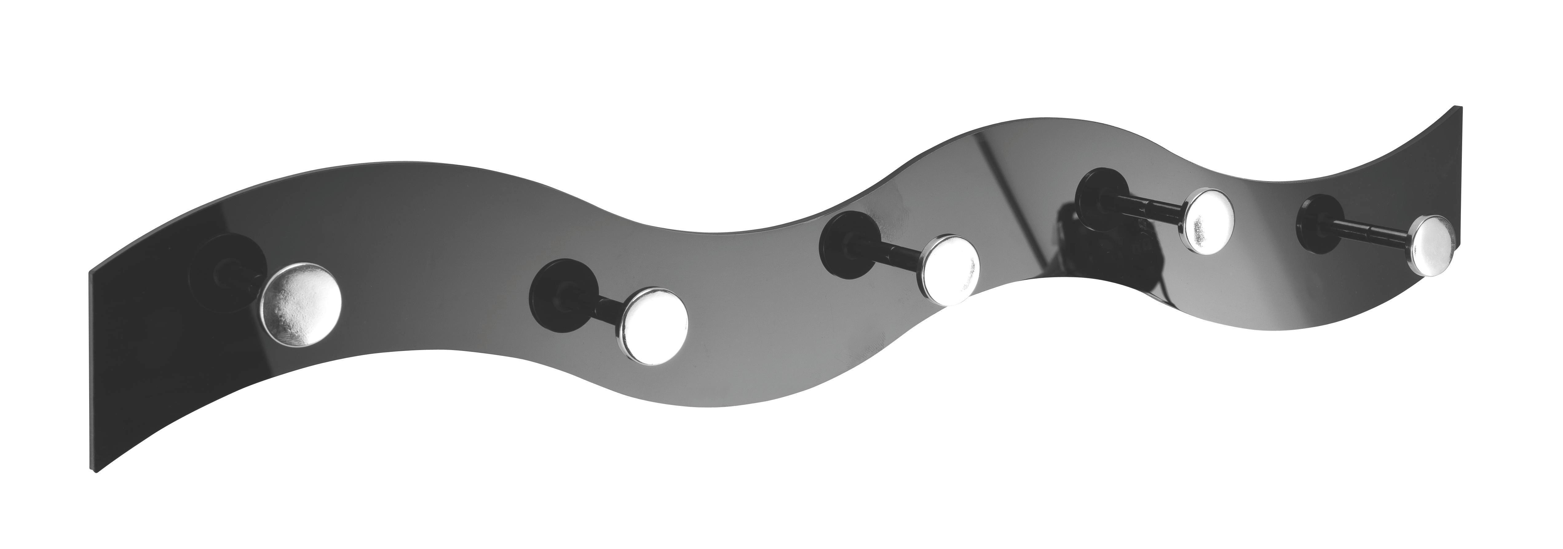 VJEŠALICA - crna, Design, plastika (57/8/4cm)