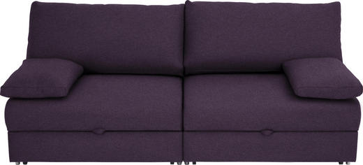 SCHLAFSOFA Violett - Chromfarben/Violett, Design, Textil/Metall (192/77-88/110-120cm) - Bali