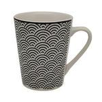 KAFFEEBECHER - Schwarz/Weiß, Trend, Keramik (7,8/9,5cm) - Novel