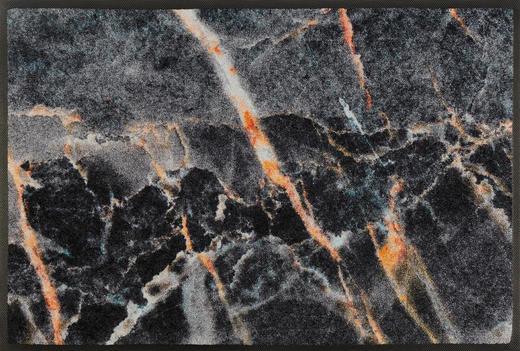 FUßMATTE 50/75 cm Graphik Grau, Schwarz - Schwarz/Grau, Kunststoff/Textil (50/75cm) - Esposa