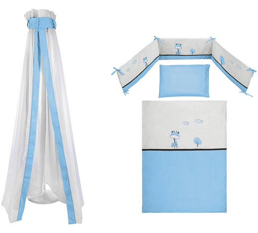 SADA DO DĚTSKÉ POSTÝLKY,  - bílá/modrá, Basics, textil - My Baby Lou