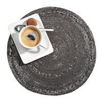 PLATZDECKCHEN Metall, Glas Grau, Silberfarben 35 cm  - Silberfarben/Grau, Basics, Glas/Metall (35cm) - Ambia Home
