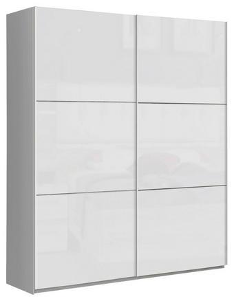 SCHWEBETÜRENSCHRANK 2-türig Weiß - Weiß, Design, Holzwerkstoff/Metall (170,3/209,7/61,2cm) - Carryhome