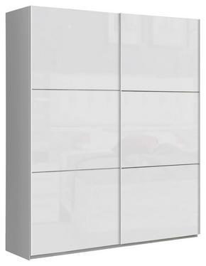SKJUTDÖRRSGARDEROB - vit, Design, metall/träbaserade material (170,3/209,7/61,2cm) - Carryhome