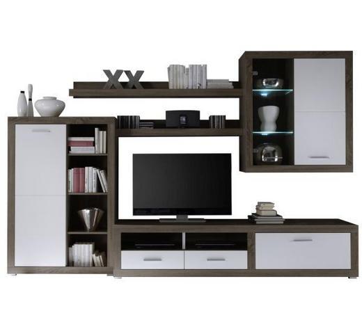 REGAL ZA DNEVNI BORAVAK - Design, drvni materijal (292/189/48cm) - Xora