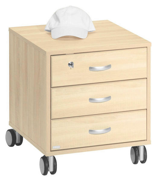 KONTEJNER - barvy stříbra/barvy javoru, Konvenční, kompozitní dřevo/umělá hmota (44,4 51,2 54,7cm) - Paidi