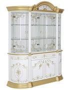 VITRÍNA, bílá, barvy zlata - bílá/barvy zlata, Lifestyle, kov/kompozitní dřevo (189/228/56cm) - Cantus