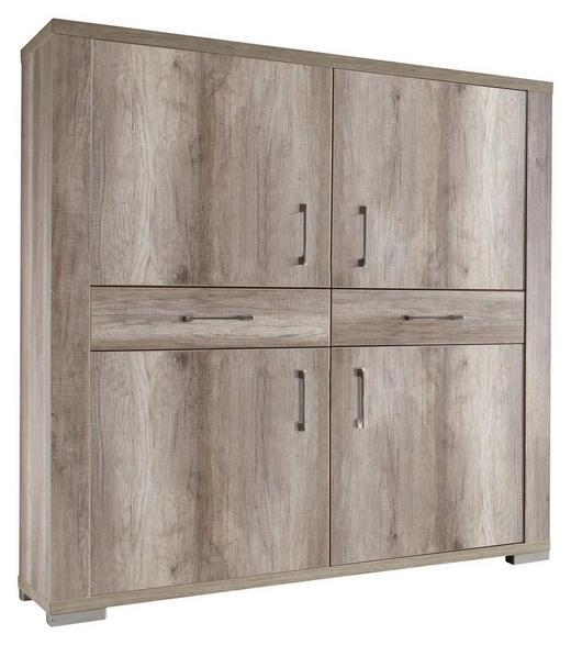 HIGHBOARD Trüffeleichefarben - Edelstahlfarben/Trüffeleichefarben, Design, Holzwerkstoff/Kunststoff (134/148/45cm) - Carryhome