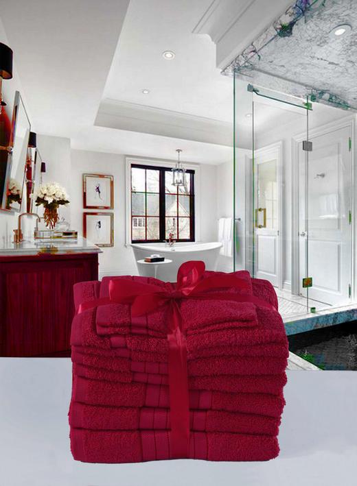 FROTTIERSET 8-teilig - Pink, Textil