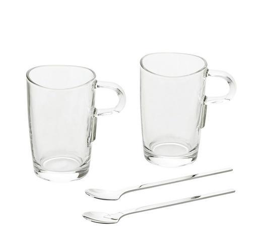 KAFFEEGLAS 4-teilig 250 ml - Klar, KONVENTIONELL, Glas (19/14,5/11cm) - Leonardo