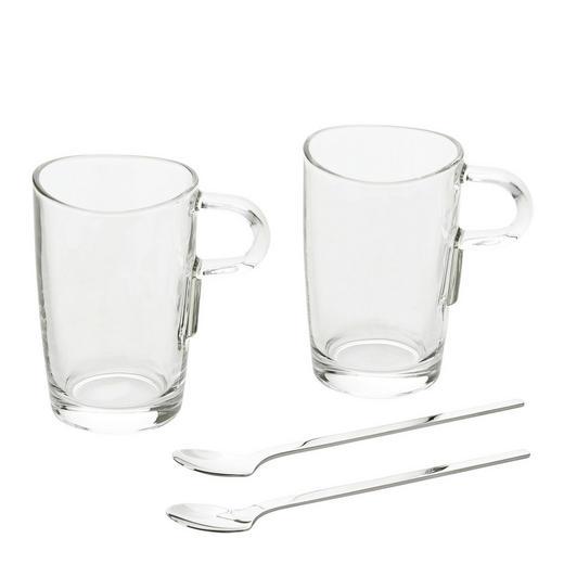 Latte Macchiato-Glas Set - Klar, Basics, Glas (19/14,5/11cm) - Leonardo